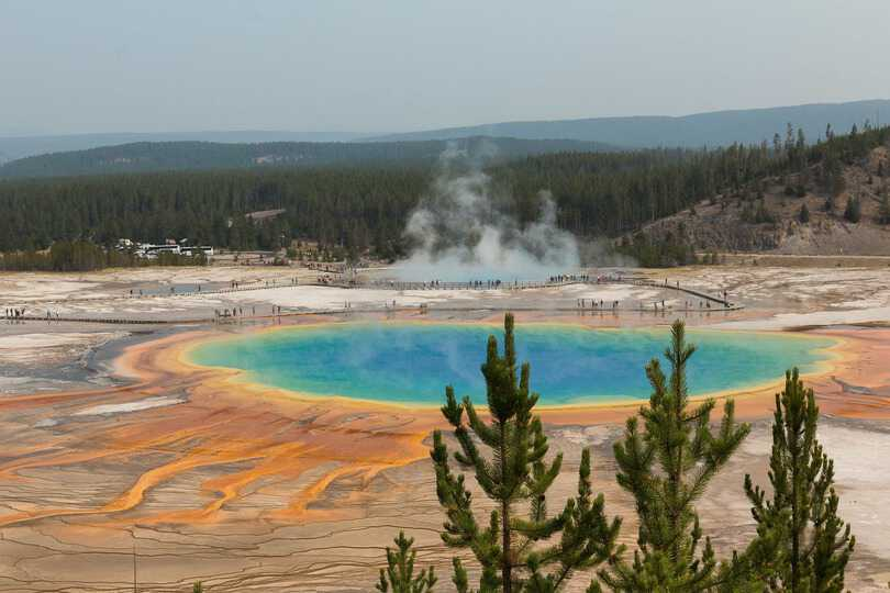 Yellowstone National Park, come visitare la Grand Prismatic Spring