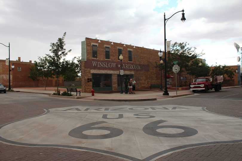 "Route 66 in Arizona, il mitco ""corner"" di Winslow"